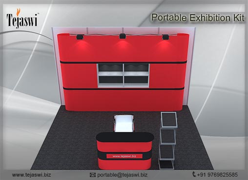 4 meter x 3 meter Portable exhibition kit 3 side _433S-4