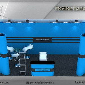 6 meter x 3 meter Portable exhibition kit 3 side_633S-5
