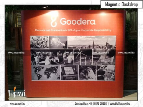 Magnetic Backdrop for Goodera
