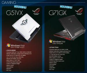 Asus G51VX et G71GX
