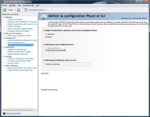 nVIDIA System Tool - SLI et PhysX