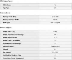 Spécifications GeForce GTS 260M