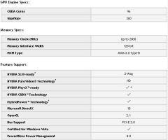 Spécifications GeForce GTS 350M