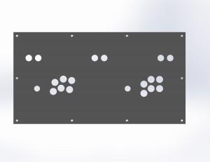 Modélisation du control panel réalisé sous Solidworks, très utile si vous avez la possibilité d'effectuer une découpe laser