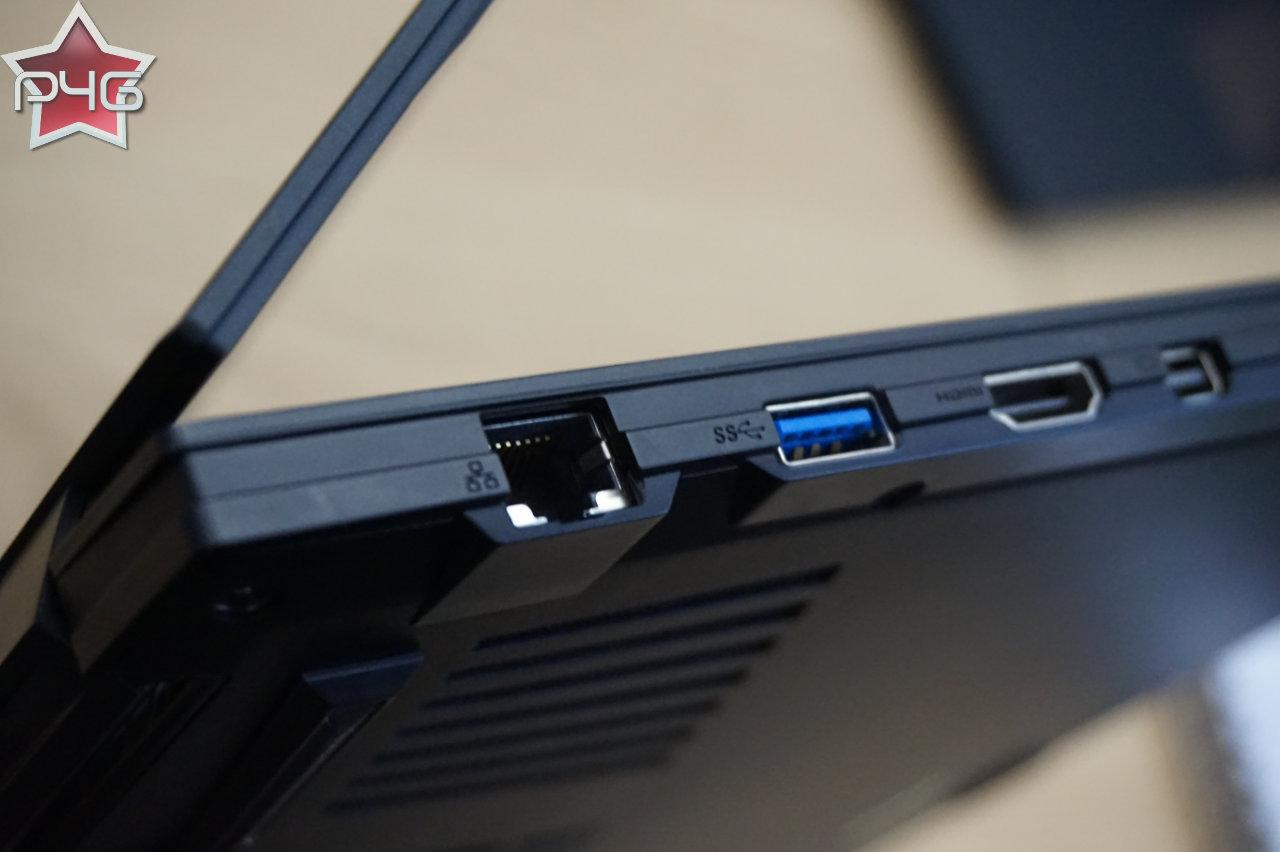 Côté HDMI du Gigabyte Aero 15 v8