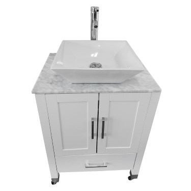 white cabinet portable sink with ceramic vessel model pse 010ww