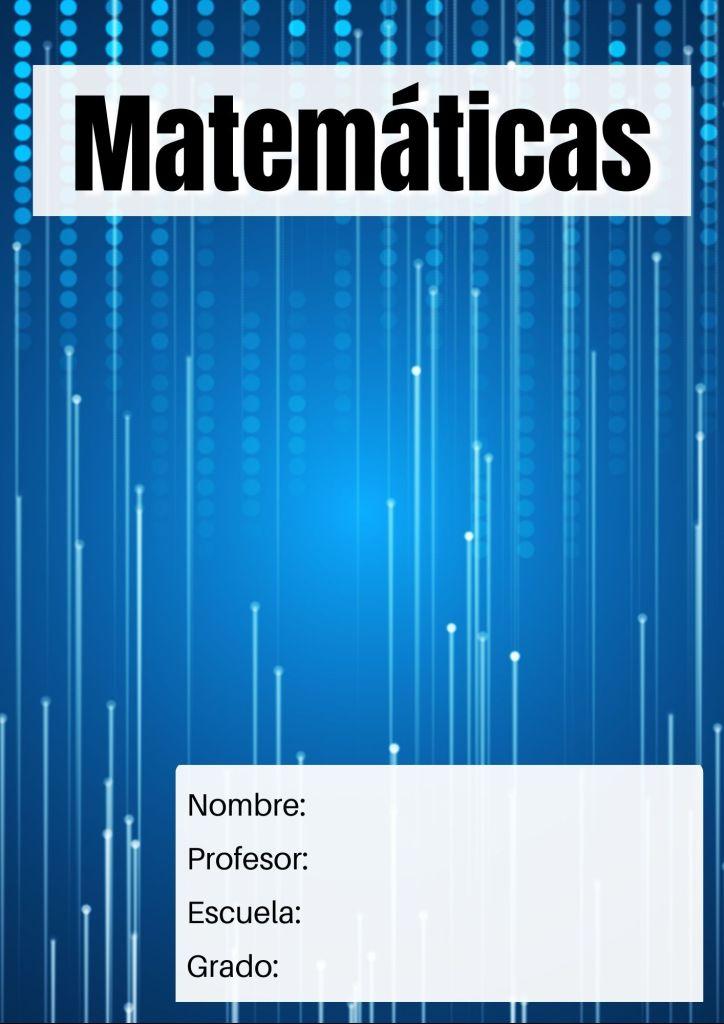 descargar carátulas matemáticas