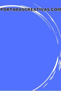 Portada para trabajos azul con círculos