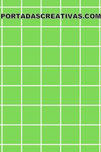 Portada para trabajos verde y cuadros