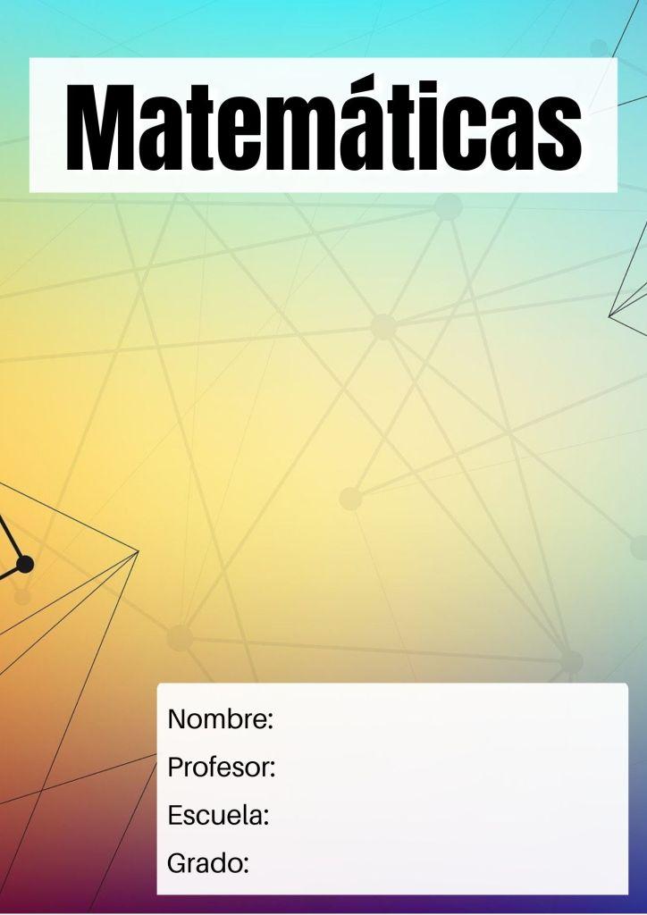 carátulas de matemáticas