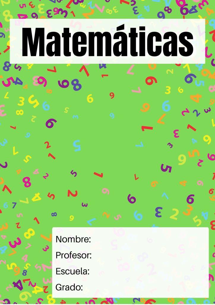 portadas para matemáticas