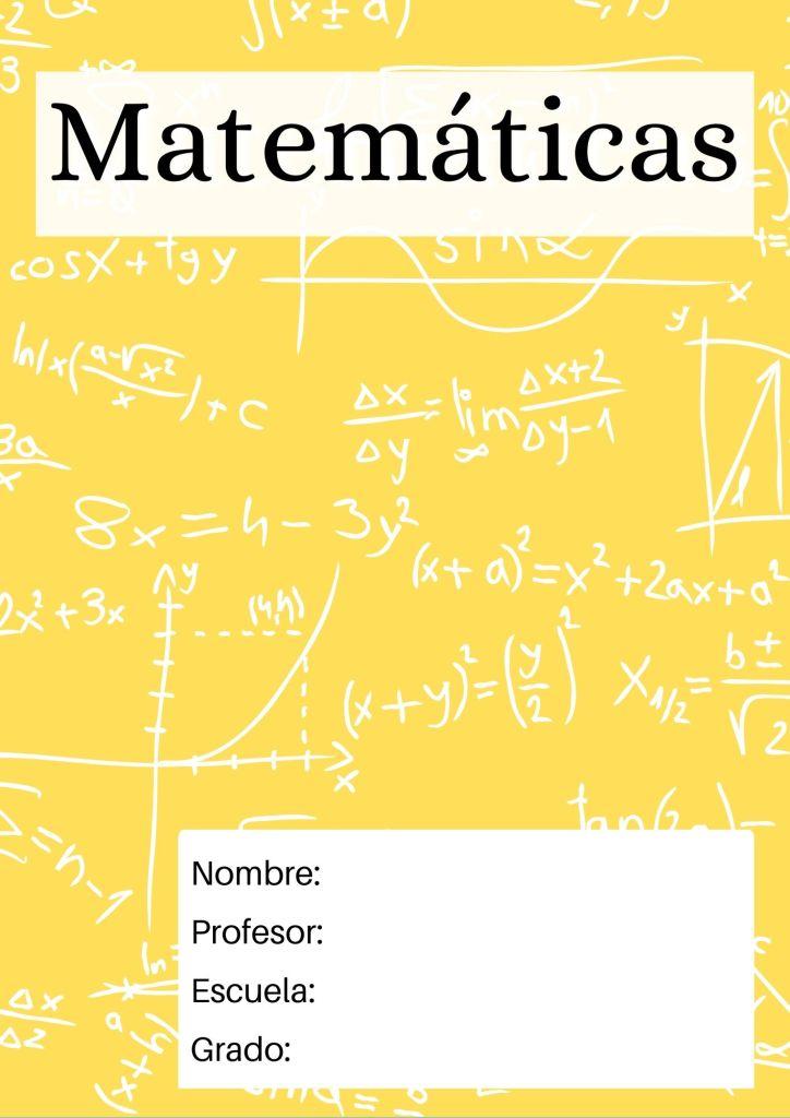 portada para matematicas