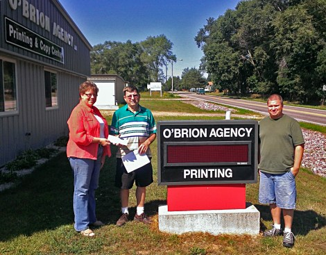 The O'Brion Agency, LLC, established in 1978, (located in Portage), handles the printing and paper needs of over 800 business clients.  The O'Brion Agency, LLC is one of the largest retail suppliers of commodity paper in Wisconsin. We currently service over 85 schools with quality paper at competitive prices. We also warehouse paper for over 110 clients. Many companies do not have storage space that would allow them to purchase in large quantities, so The O'Brion Agency warehouse's the paper at no extra charge and delivers to our clients periodically at no charge to the customer. We have pickup and delivery service within a 90 mile radius. The sales representatives are skilled in providing you with the best possible advice and service for your company's needs.  We take pride in personalized service by offering a quality product, when you need it at a savings