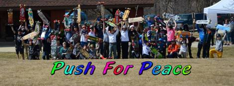 Push for Peace is an initiative that seeks to provoke unity, compassion, peace, love and the appreciation for life through our passion, longboarding!   Negativity surrounds all of us and it is easy to get caught up in the moment and forget to look at the positives that are all around. We are going to kick, push, cruise, slide and ride our boards in hopes of spreading positivity, doing what makes us happy and appreciating the little things in life every mile of the way!