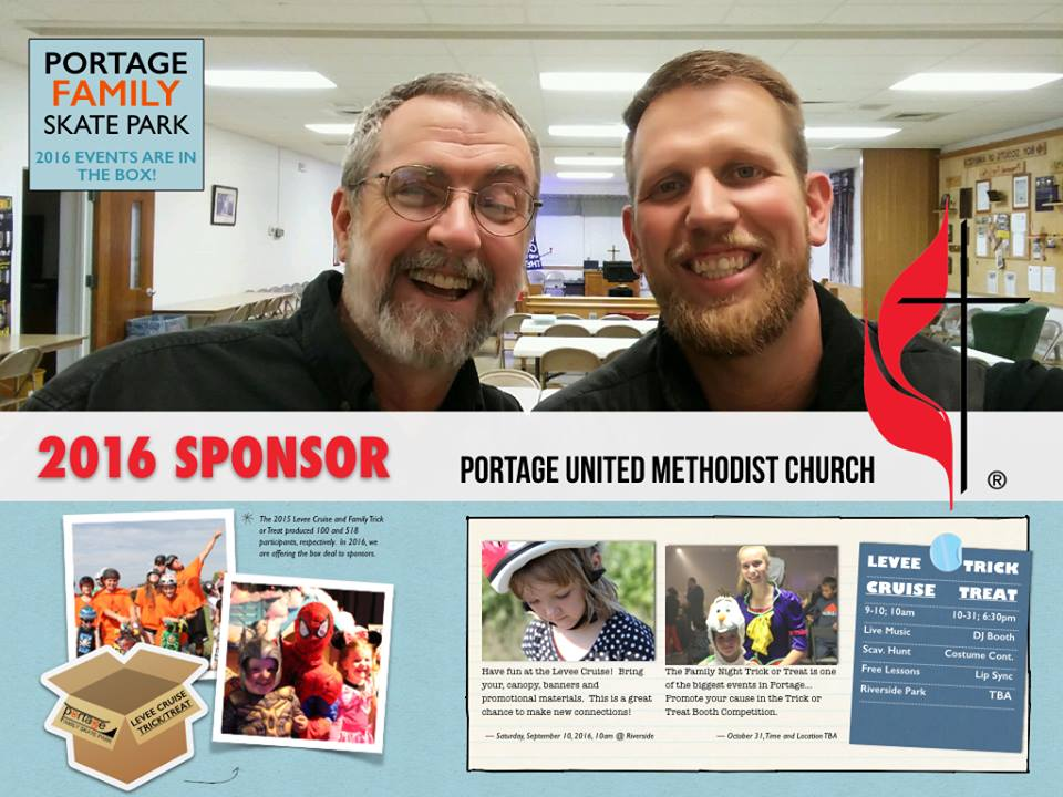 Huge Thanks to Pastor Tom of the Portage United Methodist Church for sponsoring the 2016 events! This church is present in so many ways in our community. Great group of people serving.