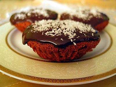 yoğun çikolatalı küçük kekler