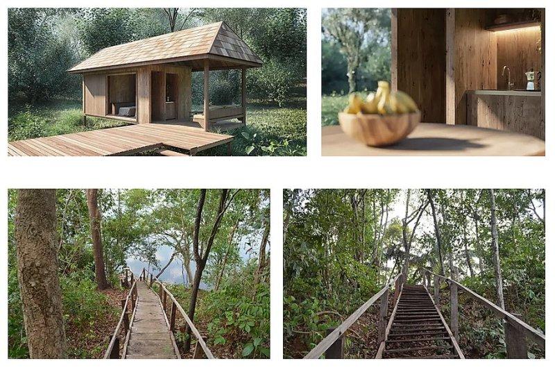 Cabañas autosuficientes diseñadas para preservar y asegurar la conexión con la naturaleza.
