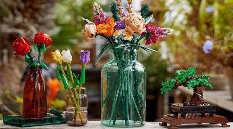, Lego presentó un set sustentable para armar bonsais y ramos de flores