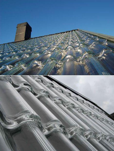 Con estas tejas de Vidrio tendrás calefacción y electricidad gratuita todo el año
