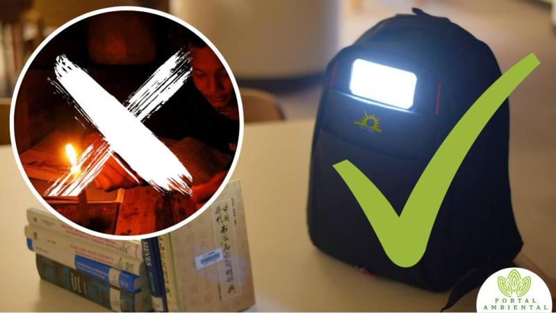 , Este Jóven Inventó mochila solar para los niños que no tienen acceso a la electricidad