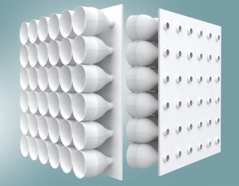 , Jóven inventó un aire acondicionado cero electricidad hecho con botellas recicladas
