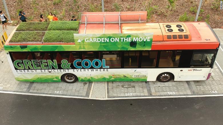 , Singapur ha cubierto sus autobuses con Jardines para mejorar la calidad del aire