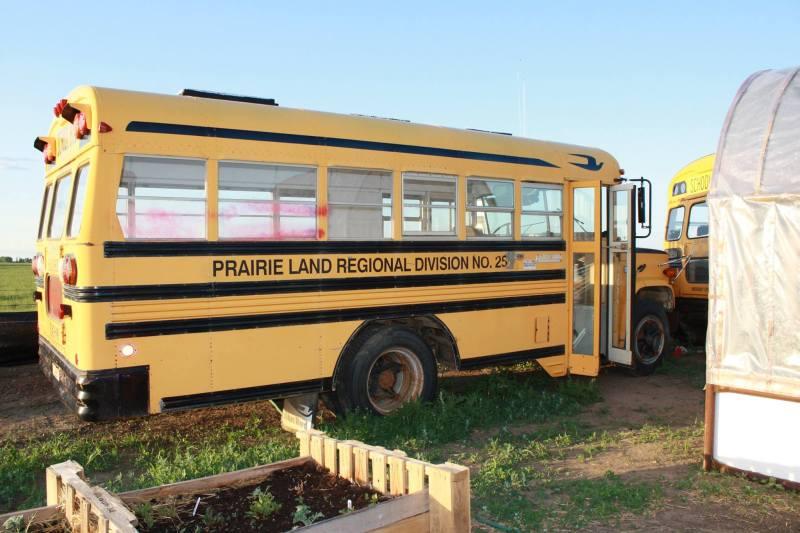 , Canadiense convierte autobuses abandonados en Invernaderos indestructibles