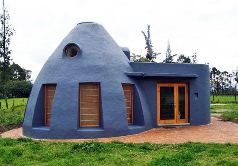 , Esta casa Ecológica, resistente a terremotos y de bajo costo, se mantiene naturalmente fresca