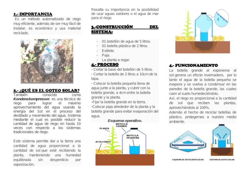, Cómo tener un sistema de riego casero para la huerta de cero costo y alto rendimiento
