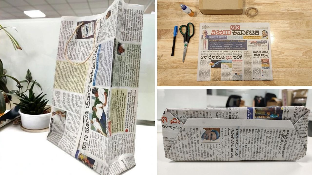Aprende cómo hacer bolsas con periódico usado en tan solo 5 minutos