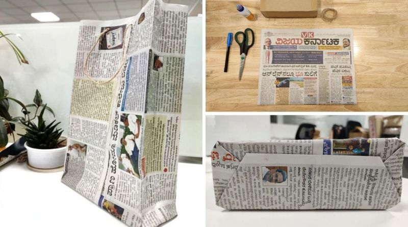 , Aprende cómo hacer bolsas con periódico usado en tan solo 5 minutos