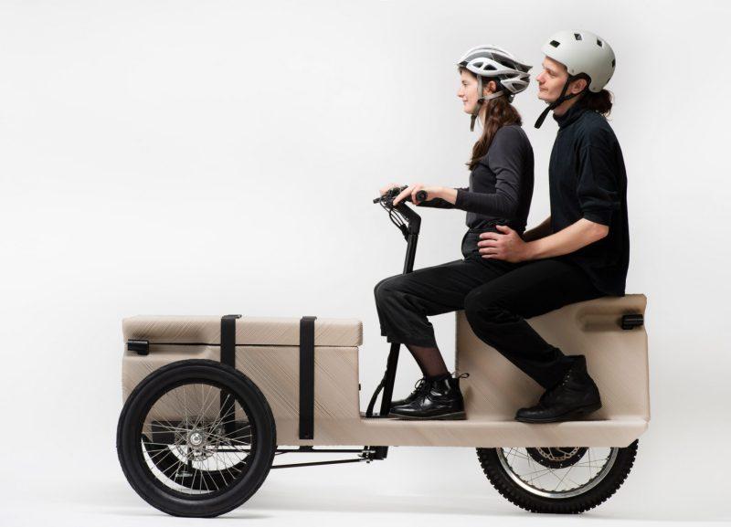 , Este Triciclo eléctrico se há impreso en 3D utilizando desechos plásticos