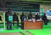 Photo of Pangdam Didampingi Kasdam dan Para Pejabat Kodam XVIII/Kasuari Kunjungi Kodim 1804/Kaimana dan Yonif 764/IB