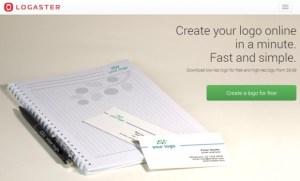 membuat logo blog online dengan logaster