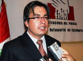 Agustín Moreno Díaz, jefe de la Oficina Defensorial de Cajamarca. Foto: ANDINA/Eduard Lozano.