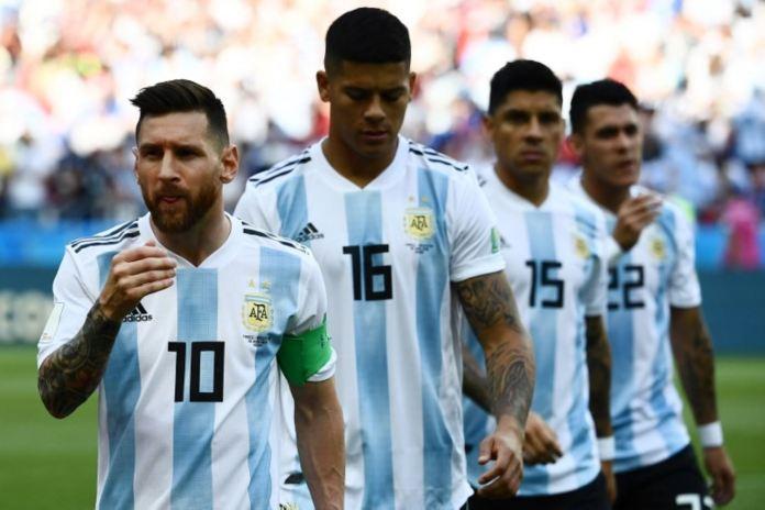 Francia y Argentina juegan por los octavos de final del Mundial de Rusia 2018, que se juega en el Arena Kazán