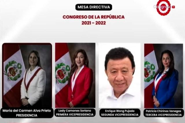 María del Carmen Alva fue electa presidenta del Congreso el periodo 2021-2022 | Videos | Agencia Peruana de Noticias Andina