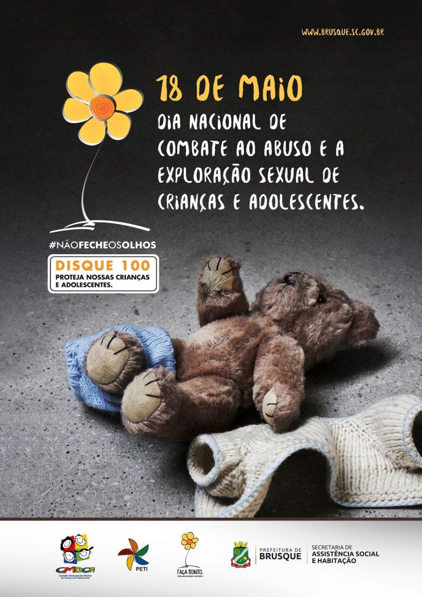 Prefeitura de Brusque lança campanha de conscientização sobre abuso e exploração sexual