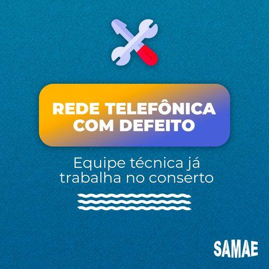 SAMAE Brusque informa que está com problemas em sua rede telefônica