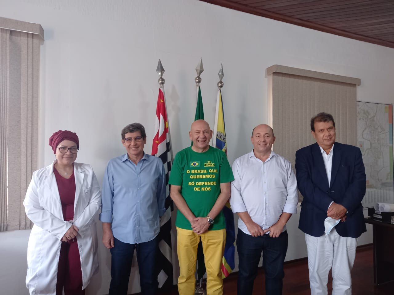 Prefeito de Brusque conhece tratamento precoce e preventivo contra Covid-19 em Porto Feliz (SP)