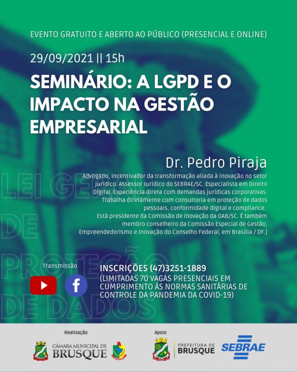 Seminário aborda Lei Geral de Proteção de Dados