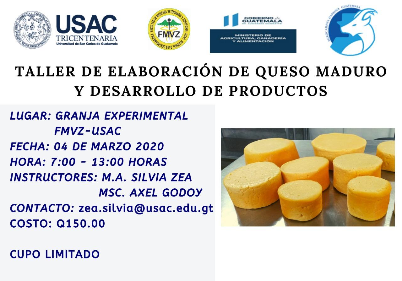 Taller de elaboración de queso maduro y desarrollo de productos
