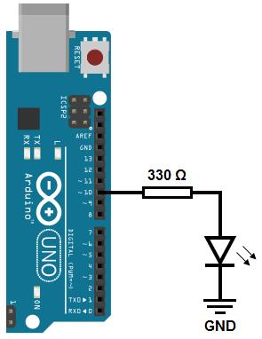 Pino digital do Arduino Uno trabalhando como saída