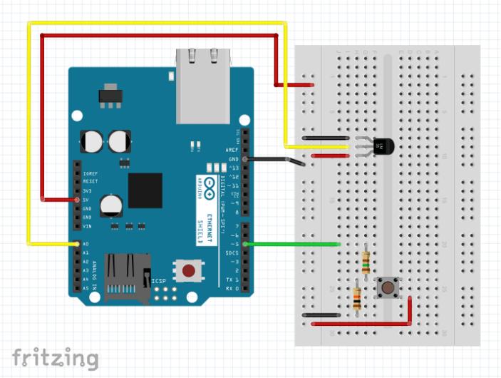 Projeto Shield Ethernet W5100 - Monitorando sensores com um Servidor Web