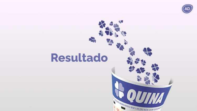 Capa de divulgação do resultado da Quina