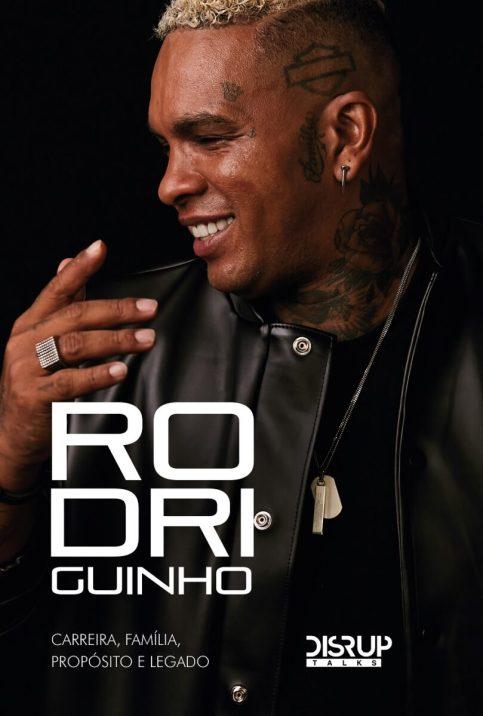 Foto de Rodriguinho na capa do livro biográfico