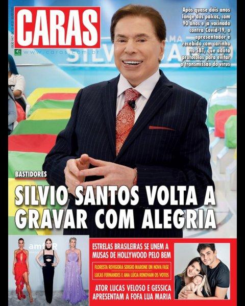 Silvio Santos na capa da revista Caras