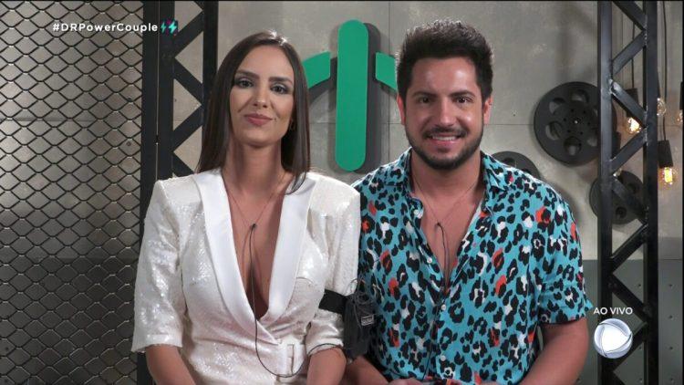 Geórgia e Thiago chegam na sala de depoimentos do Power Couple Brasil