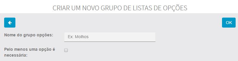 Grupo de opções