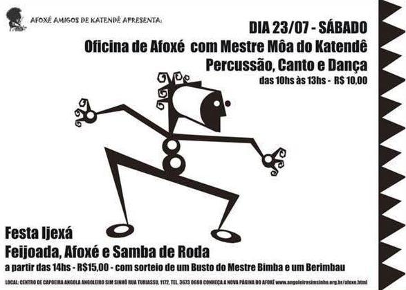 Portal Capoeira Feijoada, Afoxé e Samba de Roda... Ijexá Eventos - Agenda